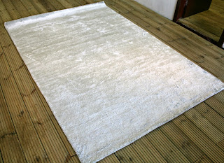 Hand-tufted Bamboo silk carpet