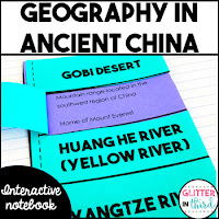 Ancient China geography activity cover