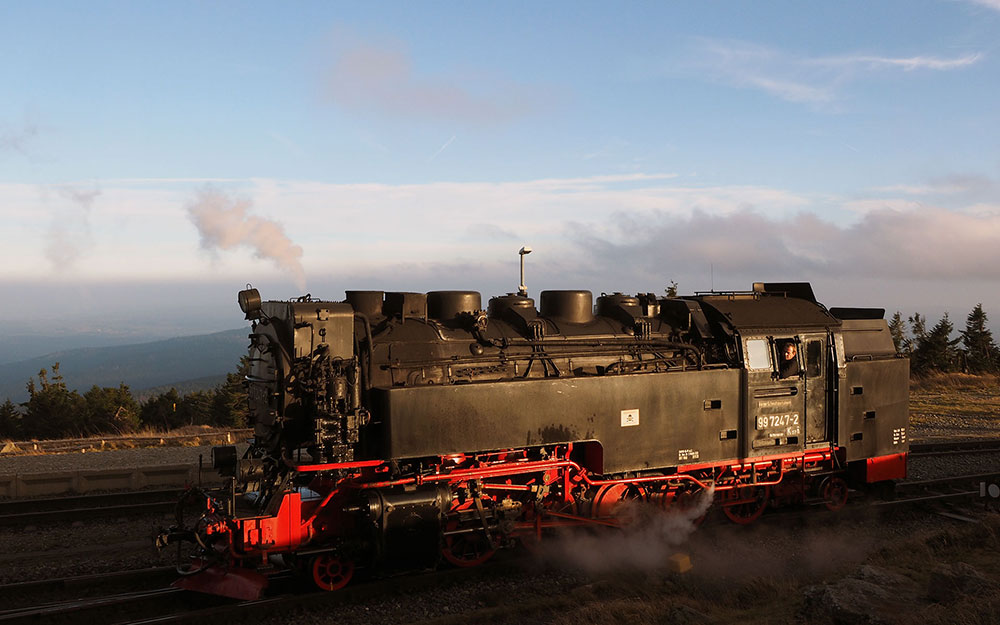 The Harz narrow-gauge locomotives travel daily on the Brocken, Selke Valley and Across Harz train lines. Photo: © hidden europe. Unauthorized use is prohibited.