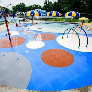 Greatmats wet area splash pad flooring Life Floor waterpark floor