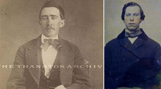 Unos retratos de los actores Travolta y Cage de hace siglos