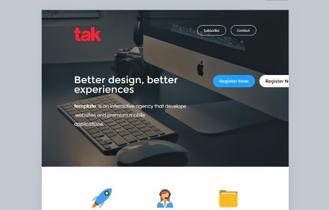 Tak - Modern Email Template + Online Access