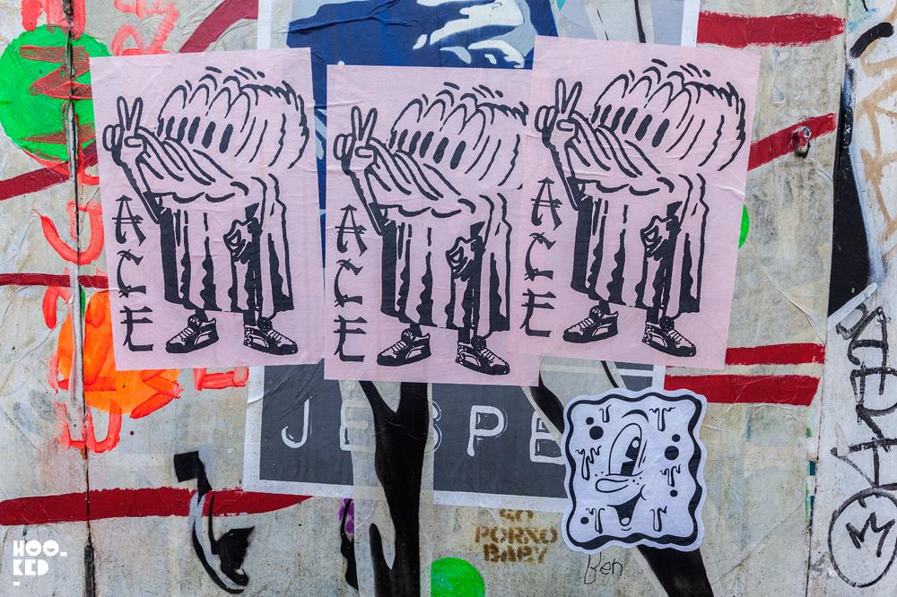 A.CE London, Street Art Pasteups in London. Photo ©Hookedblog