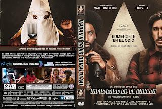 CARATULA BlacKkKlansman - El infiltrado del KKKlan 2018 [ COVER DVD]