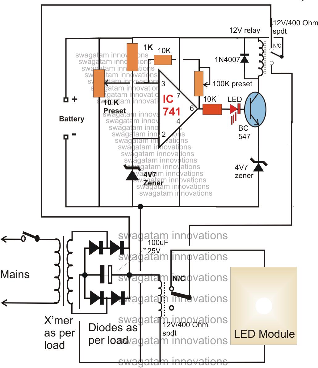 10 Watt Led Driver Circuit Diagram Sony Cdx M610 Wiring Make This Automatic To 1000 Emergency