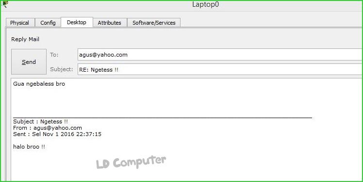 Cara konfigurasi DNS Server, Web Server, E-mail Server dan DHCP Server Di Cisco Packet Tracer
