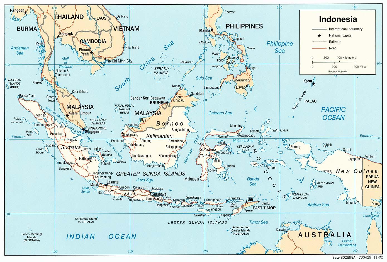 Indonésia | Mapas Geográficos da Indonésia