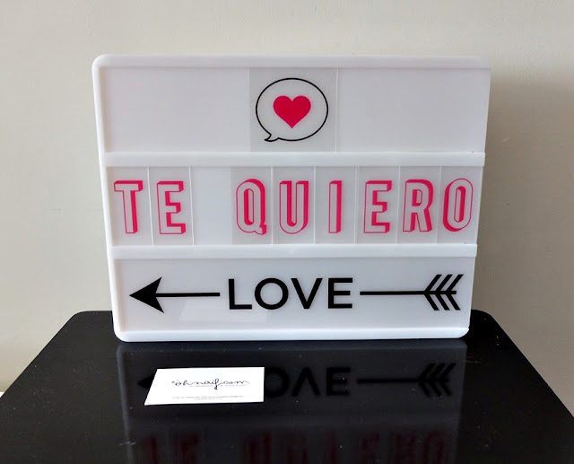 lightbox caja de luz te quiero love