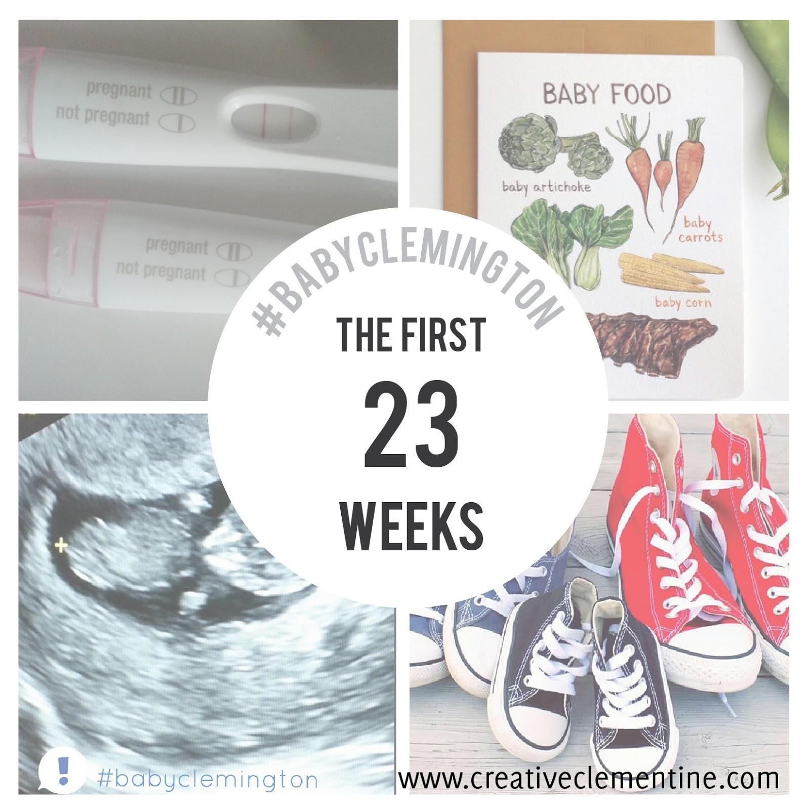 #BabyClemington Pregnancy Update: 23 weeks down, 17 to go.