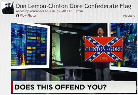 Clinton-Gore Confederate campaign logo