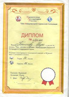 2009 г. Липецкая Барменская Ассоциация. Получил диплом бармена