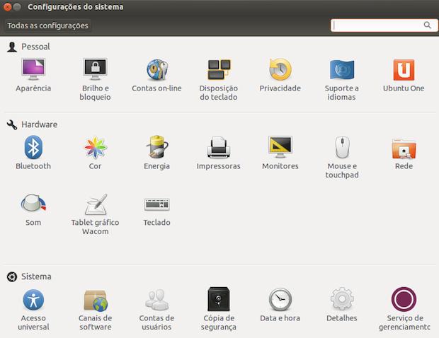 Configurações do Sistema no Ubuntu
