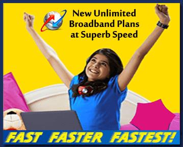BSNL 8Mbps Unlimited Broadband Plans