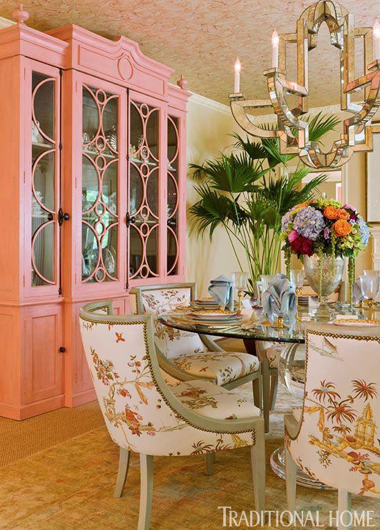 Chinoiserie Chic Orange Chinoiserie Dining Room
