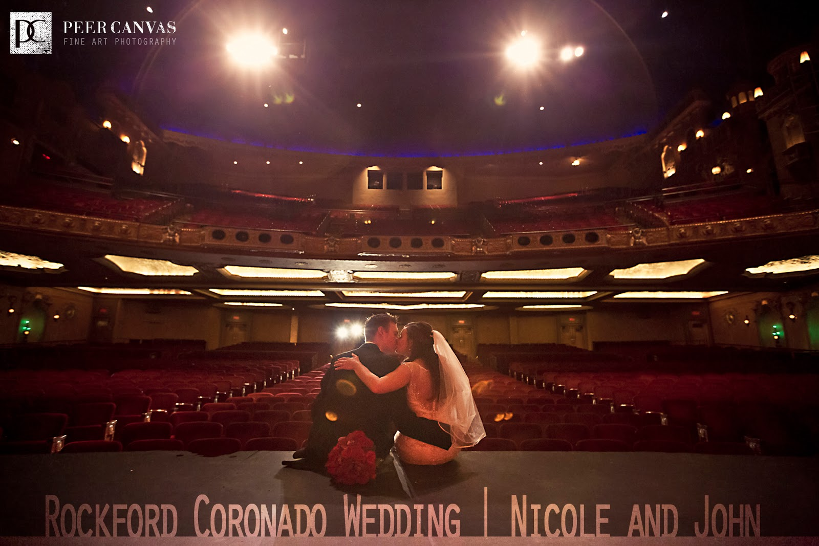 Last Night Was The Amazing Wedding Of Nicole And John At Coronado Theatre In Rockford Il There Were Lights Cameras Action Dancing