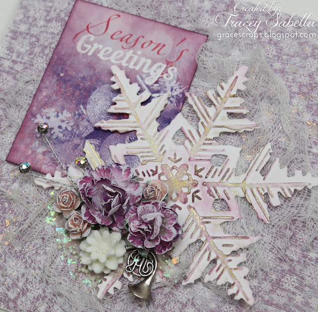 Tracey Sabella for ScrapBerry's - Mixed Media Christmas Card: http://bit.ly/2Buj9lt