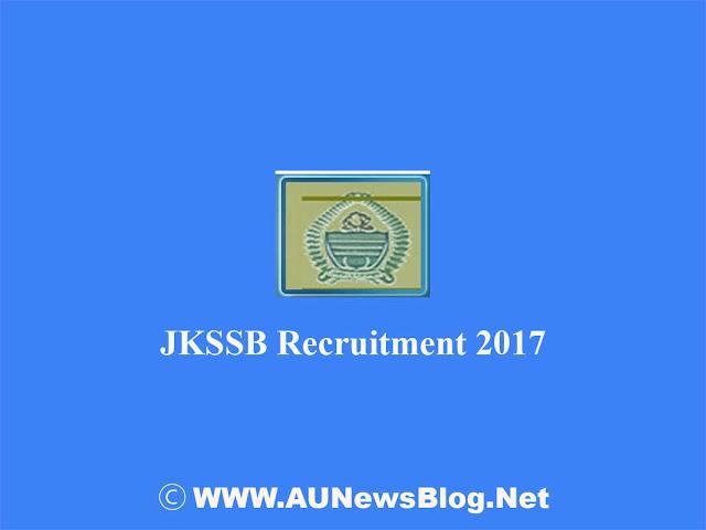 JKSSB Recruitment 2017- Various posts for Engineer & Draftsman