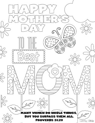 free printable mothers day pictures to color