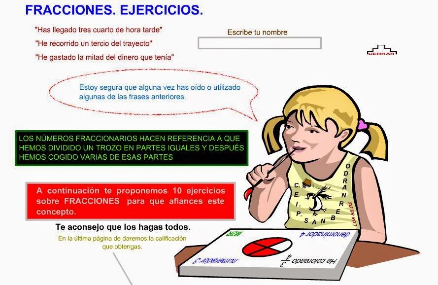 http://www3.gobiernodecanarias.org/medusa/eltanquematematico/todo_mate/fracciones_e/ejercicios/fraccionesej10_p.html