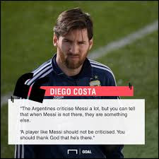 'Argentina Must Thank God They Have Lionel Messi'- Diego Costa
