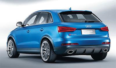 Audi Q3 SUV Rear view picture