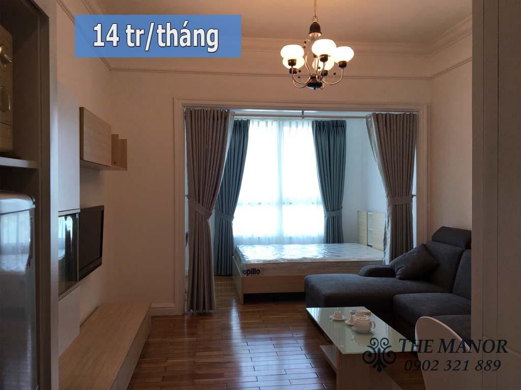 Manor Bình Thạnh cho thuê studio 36m2 giá rẻ - hình 1