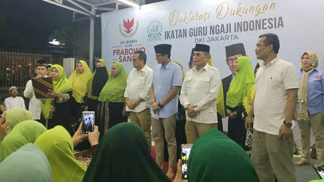 Guru Ngaji DKI Siap Gunakan Tempat Pengajian Jadi Posko Prabowo-Sandi