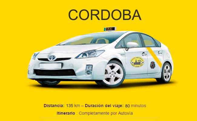 Precio Taxi Sevilla-Cordoba