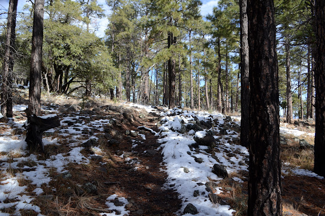 trail with a little snow