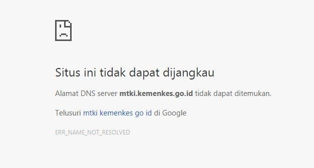 Website MTKI Tidak Bisa Diakses, ini Masalahnya
