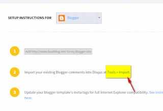 import komen dari disqus ke blog