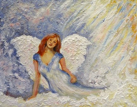"""Watches Over You"", angel in oils"