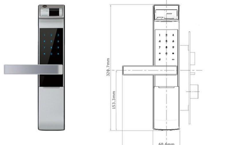 Skl Diy Uptown Yale Biometrics Digital Door Lock Ydm 4109