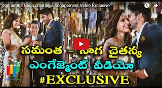 Samantha - Chaithu Engagement  Video