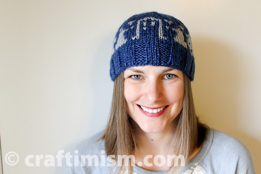 Doctor Who inspired knit hat