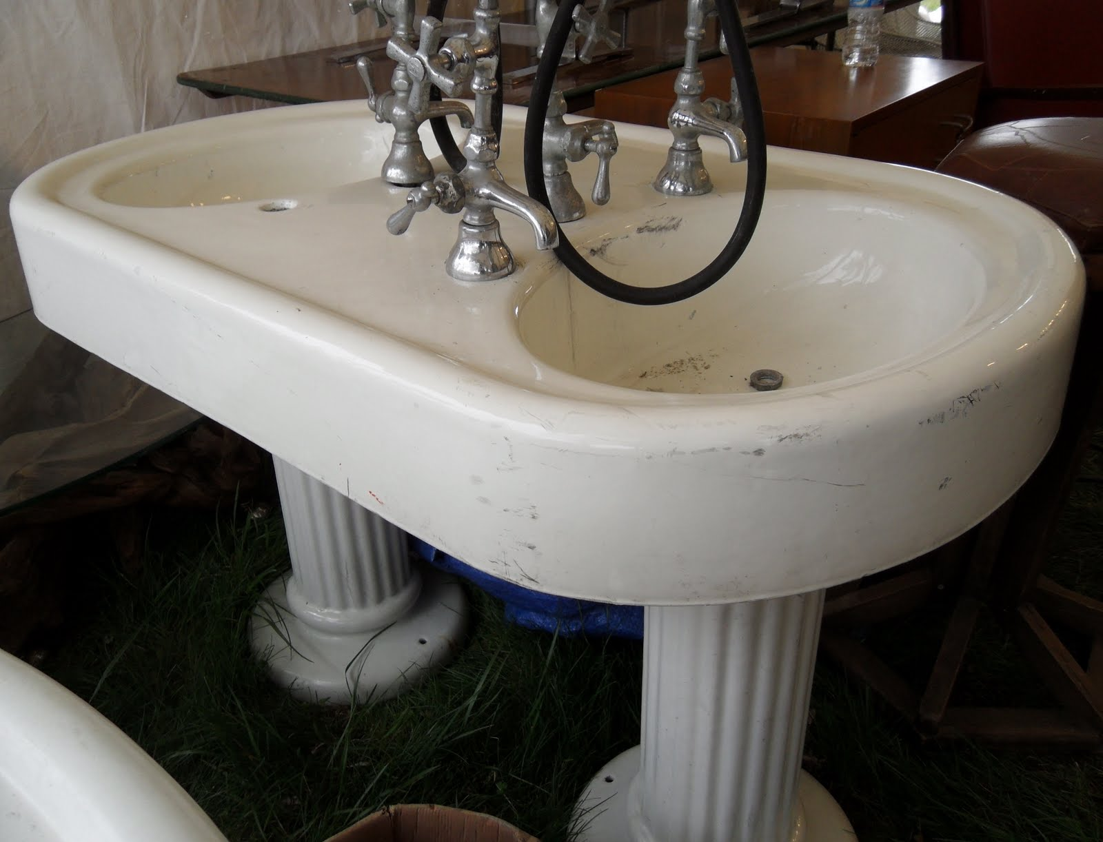 Salon Sink And Chair Tattered Style Brimfield Flea Market Review