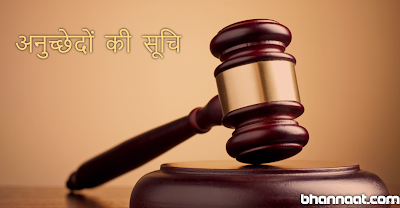 List of Indian Constitution Articles in Hindi Full Detail