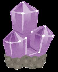 鉱石のイラスト(台座付き・紫)