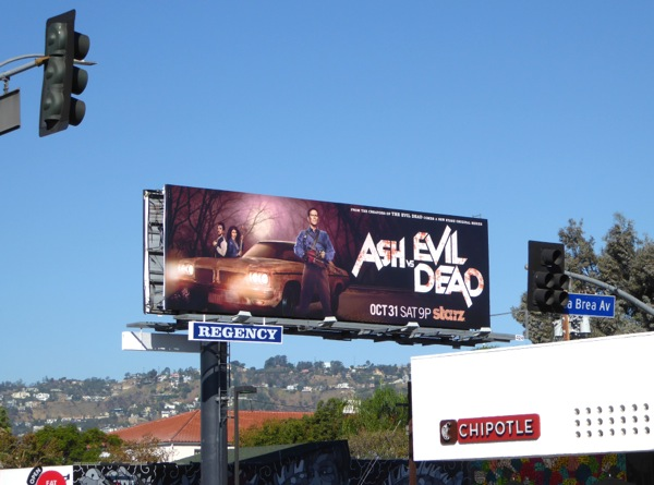 Ash vs Evil Dead series billboard