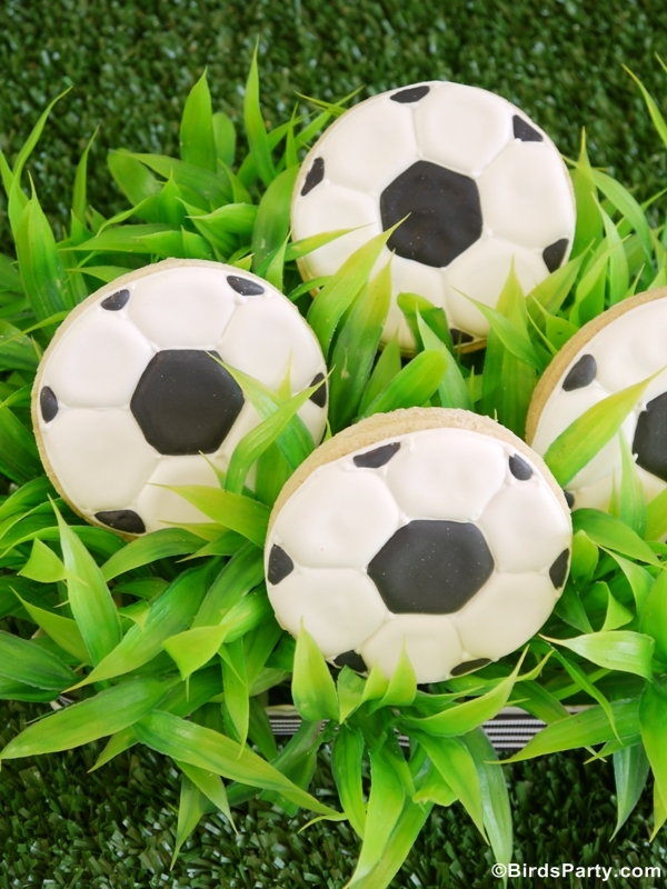World Cup Party Ideas: Soccer Football Birthday Party Cookies