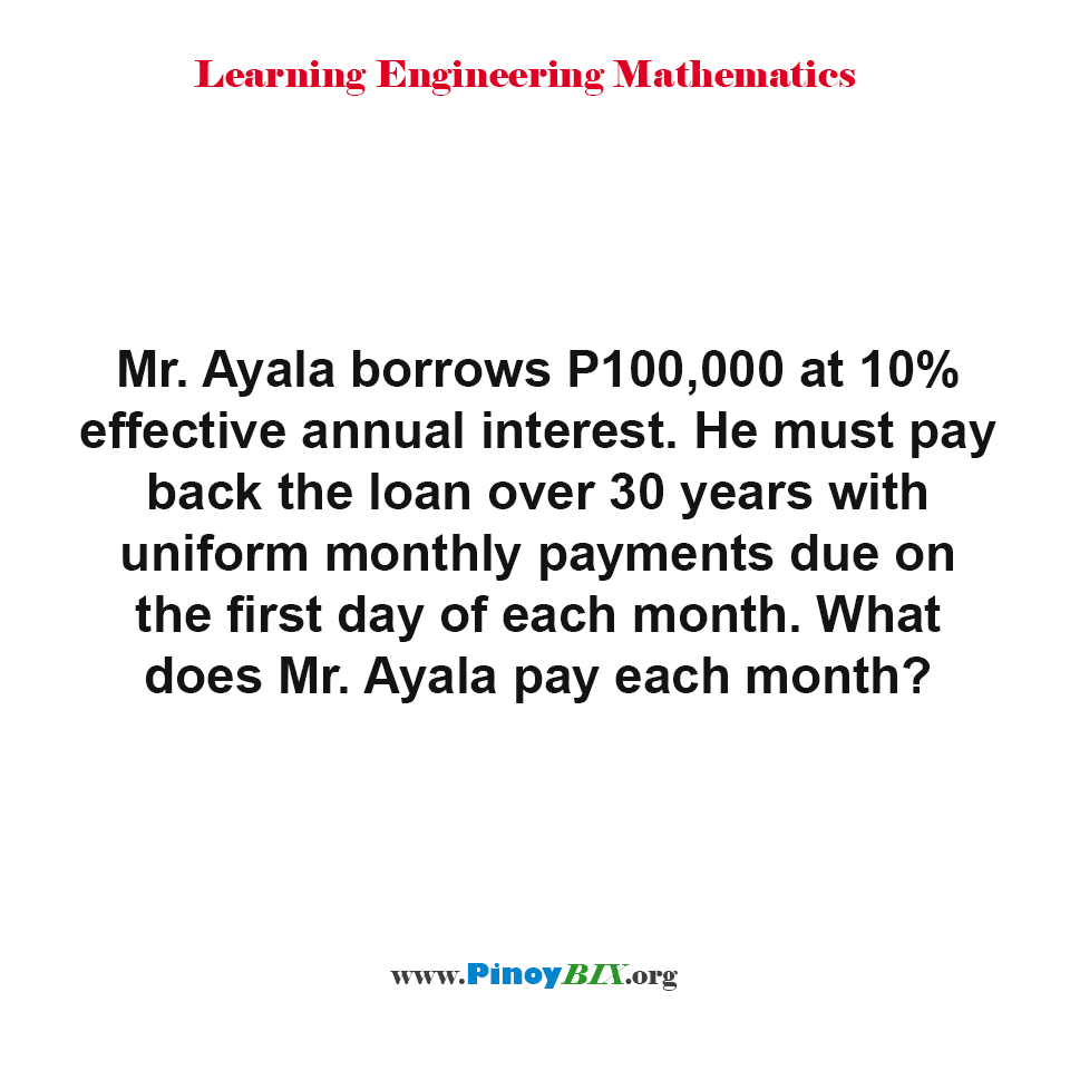 What does Mr. Ayala pay each month?