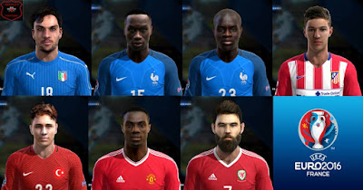 PES 2013 Facepack Euro 2016 + Extra Faces international by Bruno7Facemaker