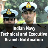 Indian Navy Technical and Executive Branch Notification June 2015 Course