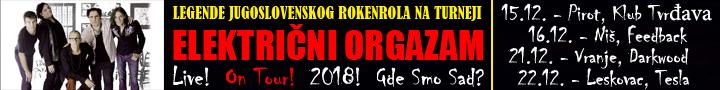 Koncert Električnog orgazma u Nišu - Više info klikom na baner.