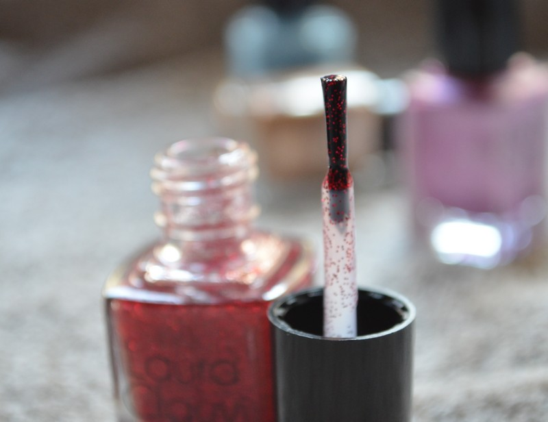VERNIS LAURA CLAUVI - COLLECTION PAILLETÉS - N°80 - RED GLITTER