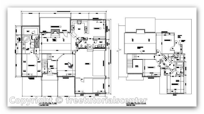 House Plan: AutoCAD File Architectural House Plan design