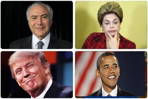 Obama X Trump, Dilma X Temer, ou melhor, Estados Unidos X Brasil