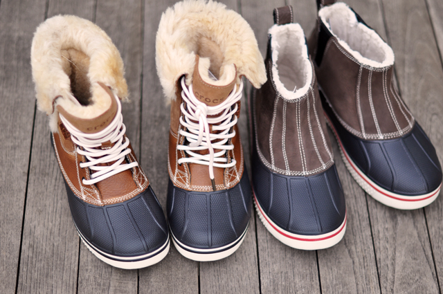 crocs, snow boots, cute snow boots