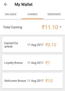 my wallet image of Earn Mafia app and earnings