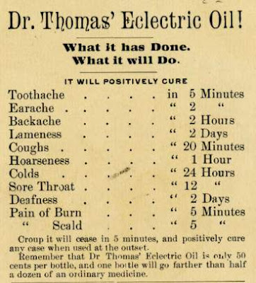 Dr Thomas' Eclectric Oil